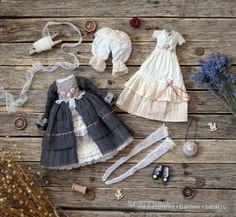 Комплект одежды для авторской куклы Марии. Осминко Наталья / Изготовление авторских кукол своими руками, ООАК / Бэйбики. Куклы фото. Одежда для кукол