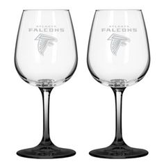NFL Atlanta Falcons Satin Etched Wine Glasses (Set of 2) - BedBathandBeyond.com