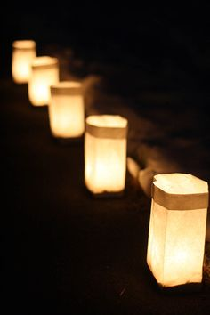"DIY Luminaries - Mom emailed me a link to her yahoo search results for ""driveway luminaria candles"". No message, just the link. I think this is her way of telling us that she wants luminaries."