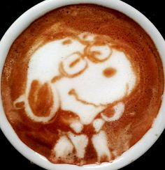 .·:*¨¨*:·. Coffee ♥ Art.·:*¨¨*:·. Snoopy latte
