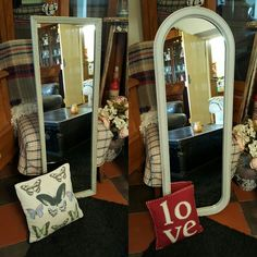 Elegant tall mirrors for wall mounting. Both painted with Annie Sloan Paris Grey Chalk Paint. Lightly distressed and clear waxed. #misselaineous #anniesloan #chalkpaint #morethanpaint #reloved #preloved #vintage #vintagehome #countrystyle #farmhouse #rustic #smallbusiness #supportlocal #authentic #proud #paintedfurniture #homewares #mirror #parisgrey #distressed #clearwax #shabbychic #elegant #gilding #curves #forsale