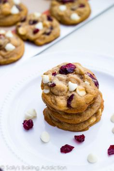 White Chocolate Chip Cranberry Cookies...Quite tasty. Could add some almonds or macadamia nuts too