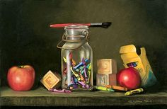 Crayon Vanitas by Patricia Tribastone was awarded Outstanding Pastel in the January 2014 BoldBrush Painting Competition. Photography Classes, Still Life Photography, Vanitas Paintings, Pastel Crayons, Gcse Art Sketchbook, Painting Competition, Oil Painters, Still Life Art, High Art