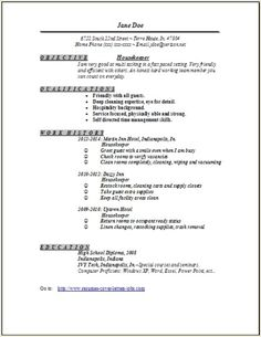 housekeeper resume more housekeeping resume projects cook ideas