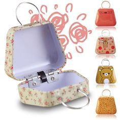 1Pc Hot Mini Handbag Iron Box Cute Tin Metal Coin Bag Jewelry candy Storage Xmas #Unbranded