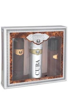 Cuba Gold By Cuba For Men. Set-edt Spray 3.3 Ounces & Aftershave Spray 3.4 Ounces & Deodorant Spray 6.8 Ounces by Cuba. $11.66. This item is not for sale in Catalina Island. Packaging for this product may vary from that shown in the image above. Fragrance notes: an exotic essence of bergamot, lavender and vetiver, blended with woods and jasmine. Recommended use: romantic.. Save 79%!