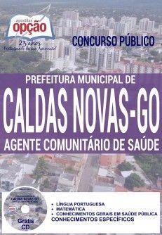 Apostila - AGENTE COMUNITÁRIO DE SAÚDE - Concurso da Prefeitura de Caldas Novas / GO 2016