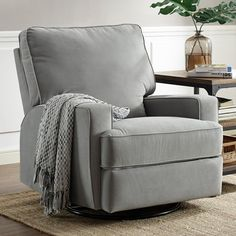 Baby Relax Rylan Swivel Gliding Recliner - For all the times when your baby needs you near, the Baby Relax Rylan Swivel Gliding Recliner keeps you comfortable. This recliner is a refuge jus...