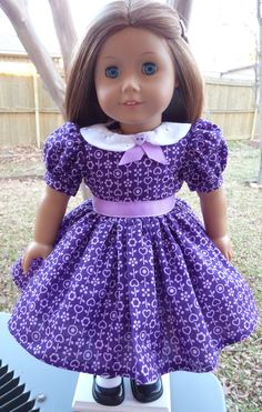 "18"" Doll Clothes 1940s-1950s Style Valentine's Day Party Dress Fits American Girl Molly, Emily, Kit, Ruthie"
