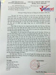 Ngày 26/3, Giám đốc Sở VHTT&DL Tiền Giang Nguyễn Đức Đảm đã ký văn bản khẩn yêu cầu phòng văn hóa và thông tin các huyện, thành phố, thị xã trong tỉnh thu hồi khẩn cấp công văn cấm   Văn bản nêu rõ, vừa qua Sở VHTT&DL Tiền Giang có ban hành Công văn số 120/SVHTTDL-TTr ngày 7/2/2017...