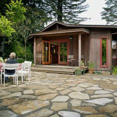 Gorgeous Flagstone Patio... this would be the start of a lovely outdoor living space. /ES
