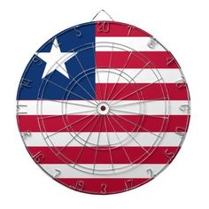 Liberia Flag Dartboard With Darts