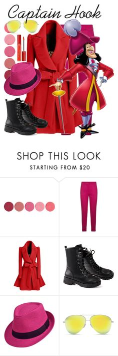 """""""Captain Hook"""" by disneyfanatic7 on Polyvore featuring Kjaer Weis, Etro, WithChic, Victoria Beckham, Giorgio Armani, disney, disneybound and disneycharacter"""