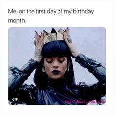 It 👏 is 👏 my 👏 birthday 👏 Happy Birthday Month, Tomorrow Is My Birthday, November Birthday, Happy Birthday Meme, Summer Birthday, Its My Birthday Quotes, Birthday Month Quotes, Birthday Funnies, It's Your Birthday