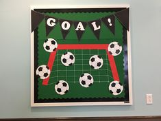 McMillan Memorial Library Overton TX SRP 2016 On Your Mark, Get Set, Read - Get Your Game On, Read Soccer Sports Theme Bulletin Board #SRP2016
