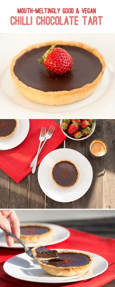 Mouth-meltingly good Chilli Chocolate Tart. Requires only 9 ingredients and delivers bucket-loads of flavour.