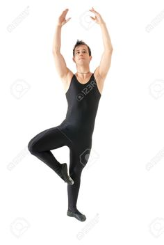 Young Man Dancing Ballet Isolated On White Background, Full Lenght ...