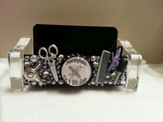 Fall bling on pinterest card holders compact mirror and for Hairdresser business card holder