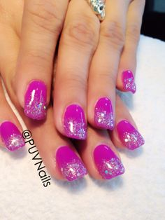Glitter gel nails design