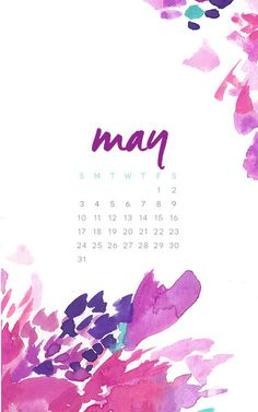 May Floral Splash Desktop and Phone Wallpapers by May Designs.