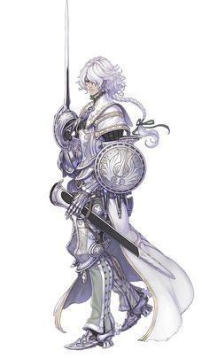 Tasha - Pictures & Characters Art - The Last Story #male #white-hair #sword