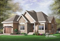 Discover the plan 3222 - Foxwood from the Drummond House Plans house collection. 2 bedroom bungalow house plan with garage and great fireplace in family room, breakfast nook. Total living area of 1355 sqft. Plan Garage, Garage House Plans, Bungalow House Plans, Country House Plans, Small House Plans, Drummond House Plans, Outdoor Pergola, Pergola Plans, Diy Pergola