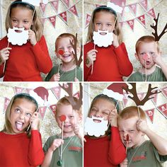 Homemade Holiday Photo Booth- great idea for family xmas cards