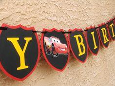 JustBeccuz: CARS Lightning McQueen HAPPY BIRTHDAY Banner