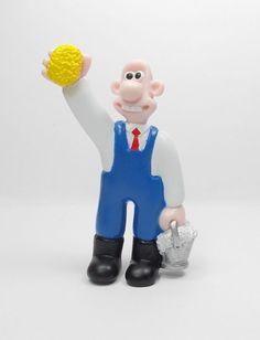 Wallace & Gromit - Wallace - Mini Toy Figure - Aardman 1989 - Cake Topper B