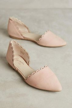Anthropologie Seychelles Research Scalloped Flats