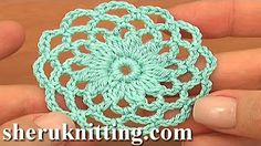 (1) Crochet Circle Motif Joining Tutorial 10 Part 2 of 2 - YouTube