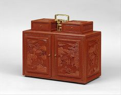 """Cabinet with Figures in a Landscape, 18th century. Qing dynasty (1644–1911), Qianlong period (1736–95). China. The Metropolitan Museum of Art, New York. Gift of Florence and Herbert Irving, 2015 (2015.500.1.10a–e) 