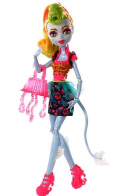 New Monster High Freaky Fusion Lagoonafire, fusion of Jinafire and Lagoona
