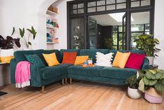 The Rebel Corner Sofas - Medium (Modular Sofa in a Box) | Snug - The Sofa in a Box Company – Snug Corner Sofa And Footstool, Velvet Corner Sofa, Furniture Care, Solid Wood Furniture, Free Fabric Samples, Sofa Shop, 2 Seater Sofa, Modular Sofa, Box Company