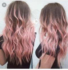 Easy to do Pink Hairstyles. Ideas for pastel pink hair. Pastel pink hair looks. Ombré Hair, Dye My Hair, New Hair, Dip Dye Hair Brunette, Dyed Hair Ombre, Brown Hair Dyed Blue, Blonde Dip Dye, Dyed Ends Of Hair, Blonde Waves