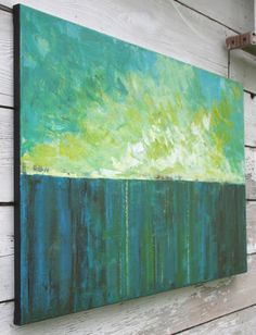 Large Abstract Landscape Painting What the by SageMountainStudio. $349.00