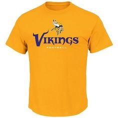 NFL Minnesota Vikings Mens All Time Great V Short Sleeve Tee Classic Gold Small * Check this awesome product by going to the link at the image.