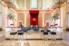 A stunning mirrored bar in the Main Hall of Banqueting House by http://velvetliving.co.uk/ Photograph: http://www.mileswillis.co.uk/