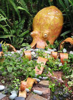 Ceramic Garden Octopus