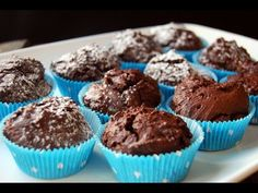 Magdalenas de chocolate. Con cacao en polvo