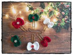 Planner clip natalizie a forma di fiocchetto