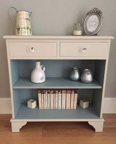 Small bookcase with drawers by BaskervilleRoss on Etsy: my ideal nightstand Refurbished Furniture, Paint Furniture, Repurposed Furniture, Shabby Chic Furniture, Furniture Projects, Furniture Makeover, Bookcase Makeover, Bookcase With Drawers, Small Bookcase