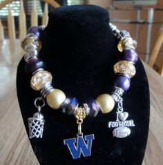 University of Washington Huskies European Charm Bracelet - College, NCAA on Etsy, $19.99