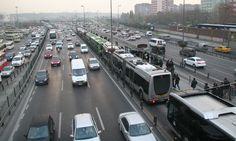 Istanbul BRT - Bus Bunching Rapid Transit, Buses, Istanbul, Transportation, Trunks, Drift Wood, Tree Trunks, Busses