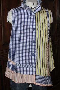 Pat Congleton - Recycled Men's Dress  Shirt - Butterick pattern #5891 by Katherine Tilton