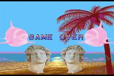 vaporwave art (game over)  made by Callum Herbison (NOT YET COMPLETED)
