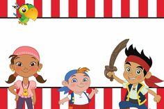 Add your own text for Jake & the Neverland Pirates Birthday Party!