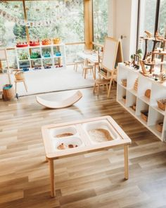 35 Favorite Playroom Design Ideas Must Have For Tiny Spaces - Having a kids playroom has many benefits. To begin with, you'll have a charming and pleasant environment where your little one may spend most of the t. Modern Playroom, Playroom Design, Playroom Decor, Playroom Ideas, Office Decor, Daycare Design, Montessori Playroom, Toddler Playroom, Waldorf Playroom