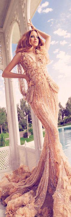 Modern Goddess - Glamour Shady Zeineldine stunning goddess gown /kmc