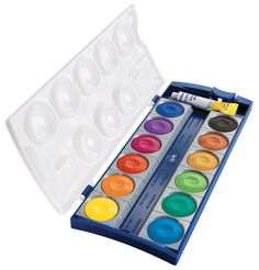 Pelikan Opaque Watercolor Paint Set, 12 Colors Plus Chinese White Tube Watercolor Paint Set, Painted Boxes, Pony Hair, White Acrylics, Cool Paintings, Painting Art, Office And School Supplies, Paint Brushes, Paint Colors